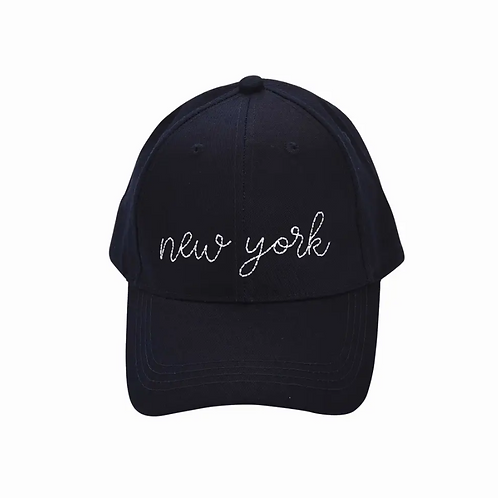 New York Embroidered Cap