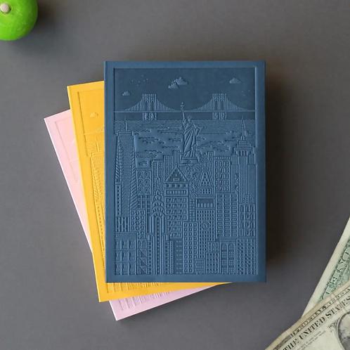 New York Debossed Notebook (3 options)
