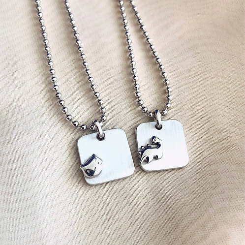Kid's Silver Necklace 3 (2 options)