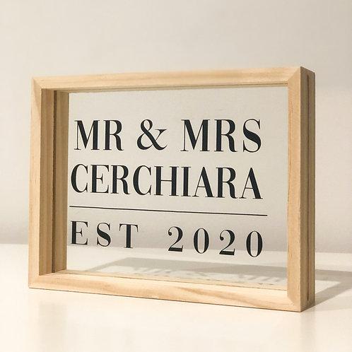 MR & MRS EST floating frame