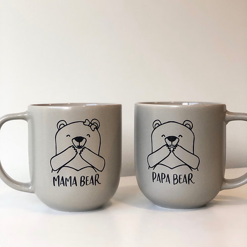 mama & papa bear mugs