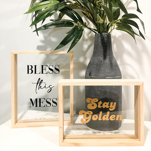 bless this mess floating frame