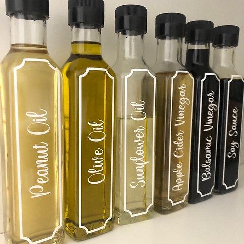oil bottle labels