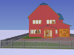 House front CAD work