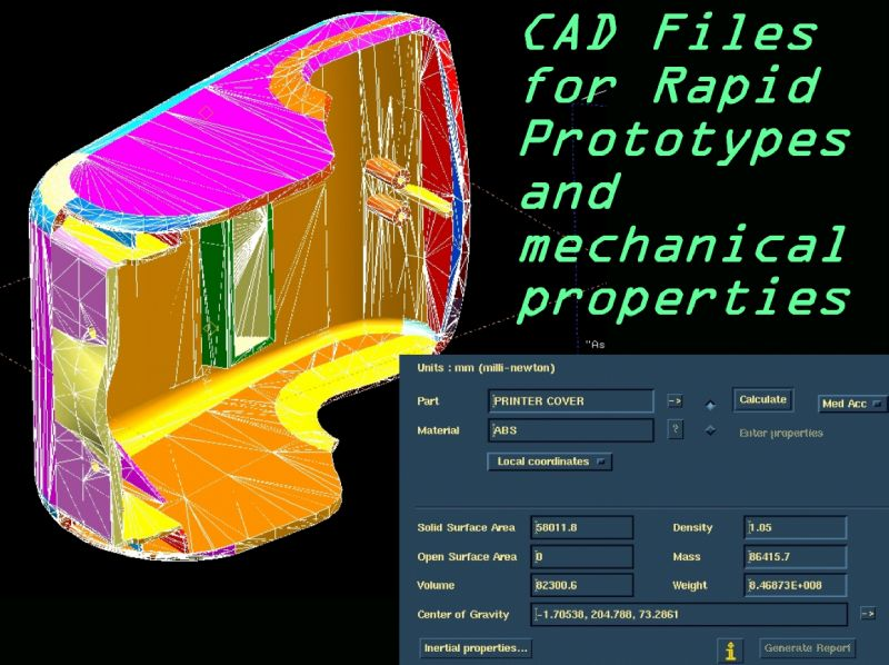 CAD model for 3D printing