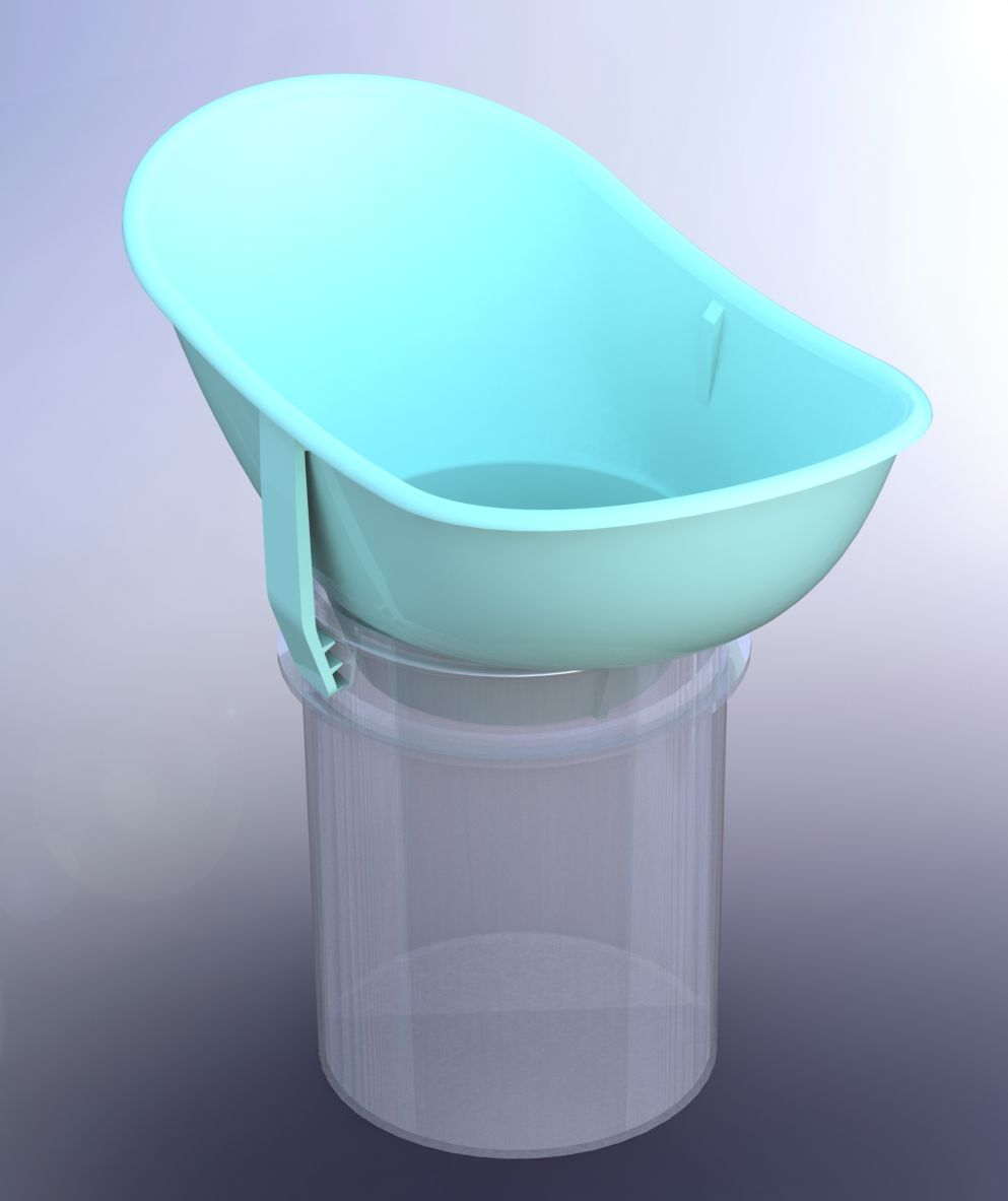 product with sample cup