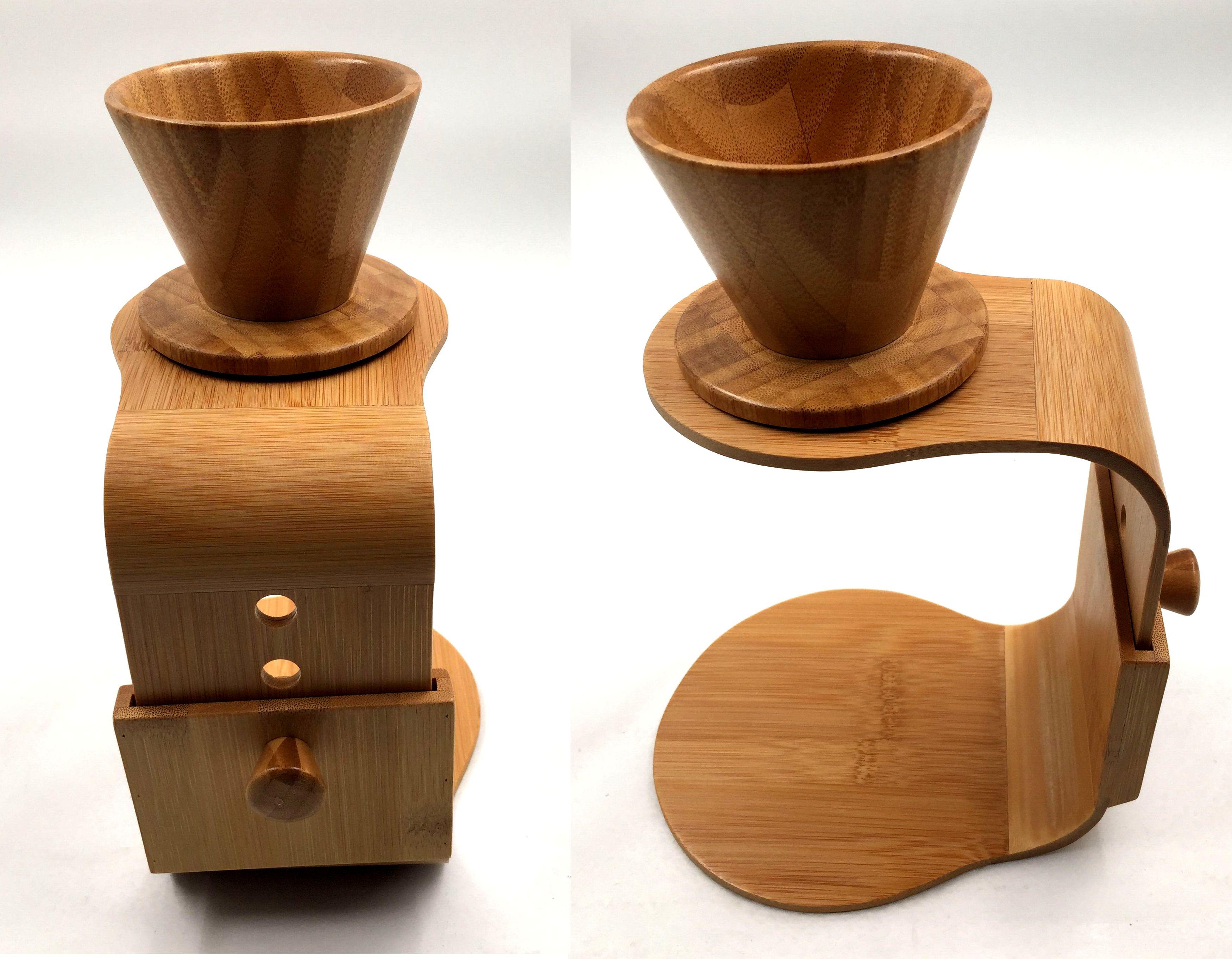 Bamboo coffee maker