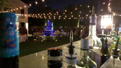 Behind The Bar Of a Backyard Wedding