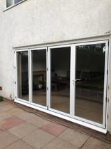 Bifold doors in white upvc