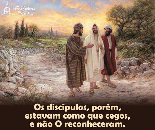 O medo nos cega! O rancor nos cega! A raiva nos cega! Abra os teus olhos e enxergue Jesus ao teu lad