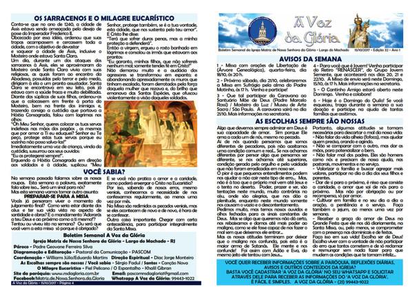 A Voz da Glória edição 032 - Outubro 2017 - 3ª semana