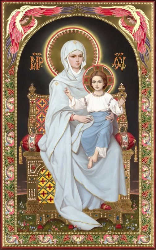 Nossa Senhora e Jesus