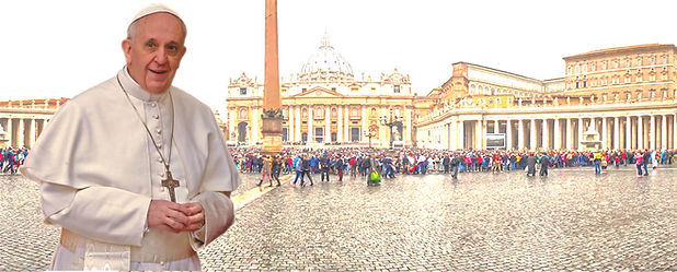 Papa e a praça São Pedro.jpg