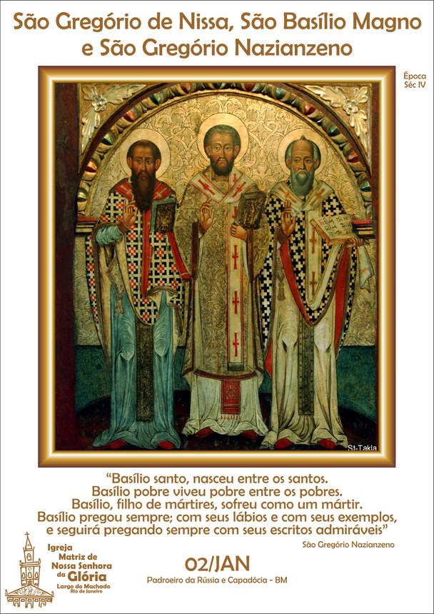 São Gregório de Nissa, São Basílio Magno e São Gregório Nazianzeno