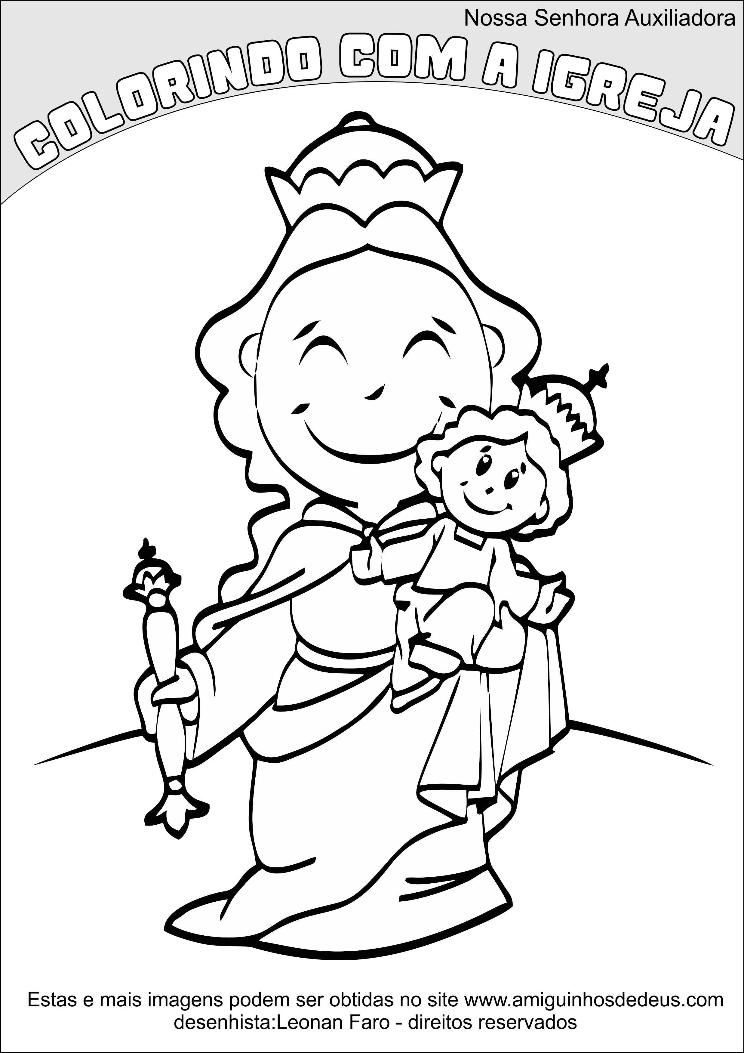 Nossa Senhora Auxiliadora desenho