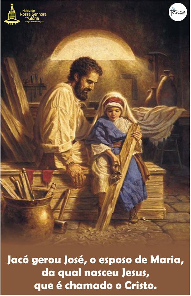 Jacó gerou José, o esposo de Maria, da qual nasceu Jesus, que é chamado o Cristo