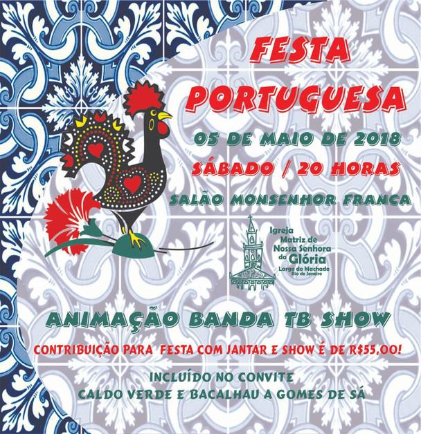Noite Portuguesa no dia 05/05