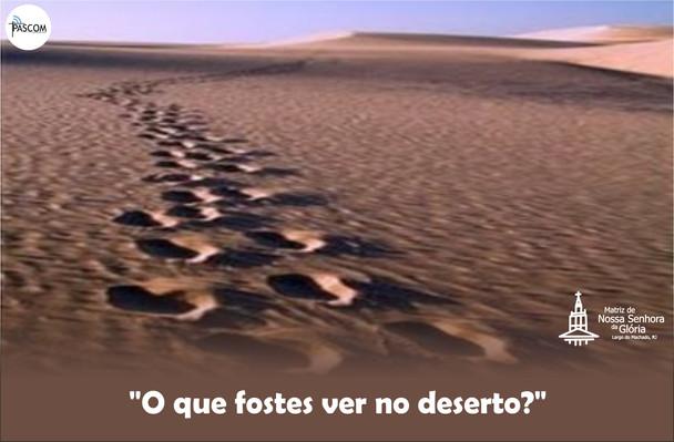 O que fostes ver no deserto?