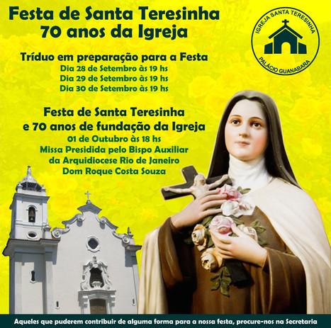 Igreja de Santa Teresinha no Palácio Guanabara completa 70 anos