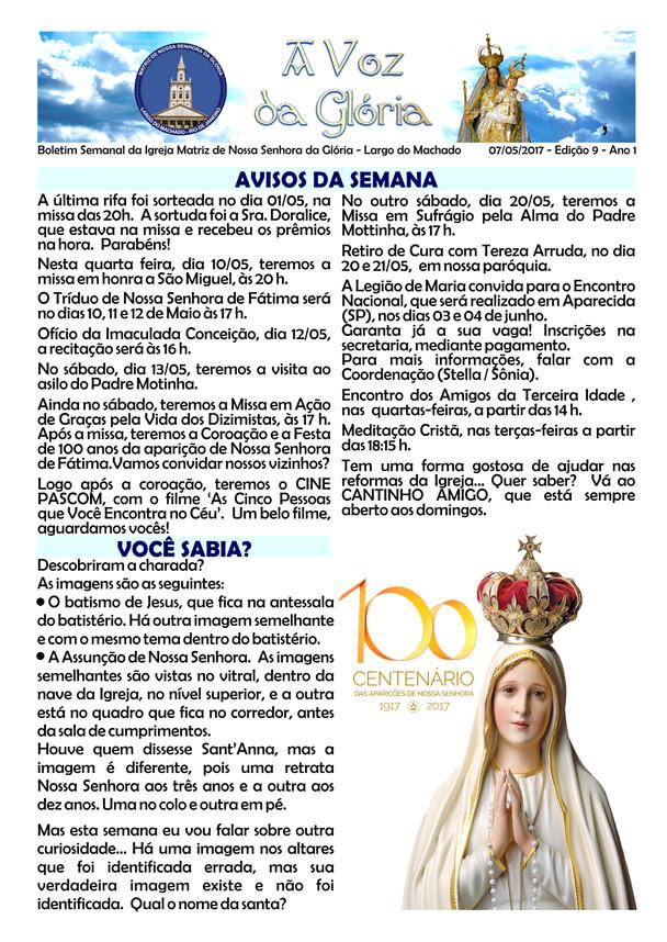 A Voz da Glória edição 025 - Agosto 2017 - 4ª semana