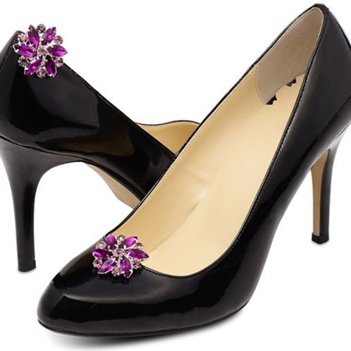 Purple Amanda Shoe Clips