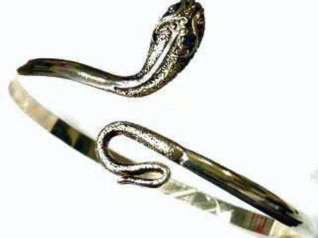 Large Silver Snake Upper Armband
