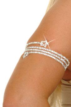 Crystal Star Coil Goldtone Armlet