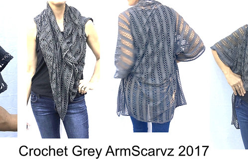 Armscarvz Knit Collection Grey