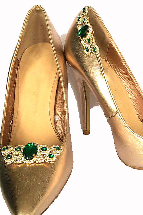 Emerald Donna Shoe Clips