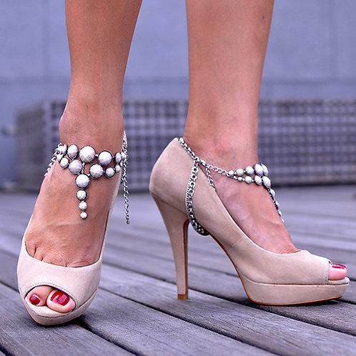 Champagne Matte Heel Chains