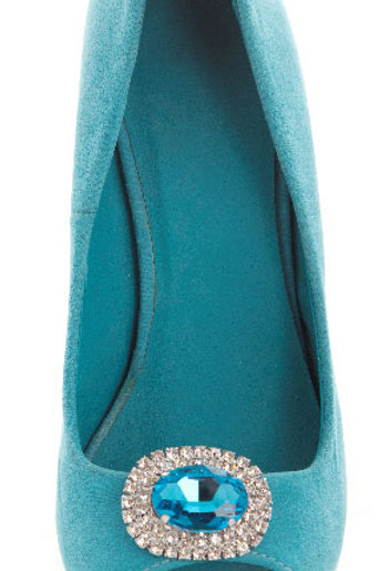 Forget Me Not Shoe Clips