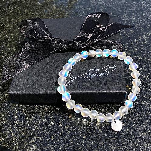 Syreni Mermaid Glass Bracelet - Moonlight White