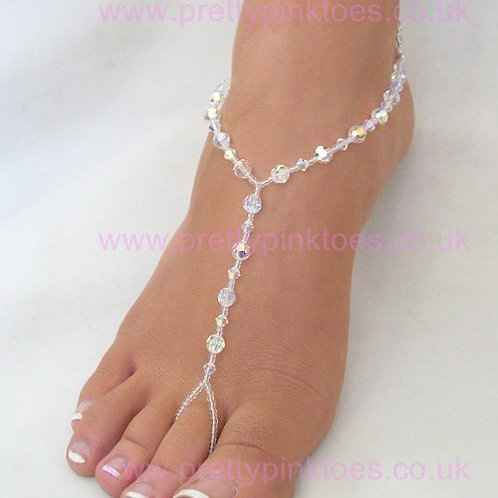 Crystal AB Barefoot Jewellery - sold out please pre order and enquire
