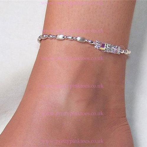 Silver Beads Anklet