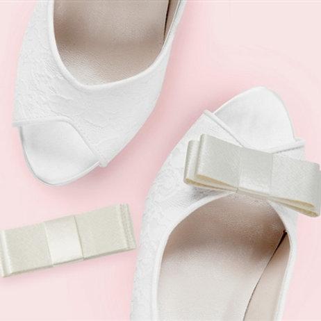 Sasha Rigid Satin Shoe Clips - various colours