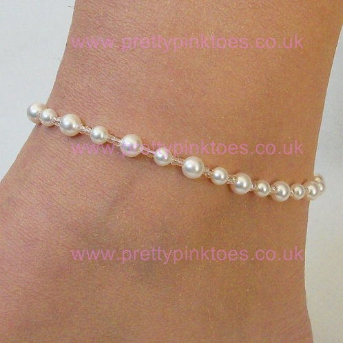 Classic White Pearl Anklet