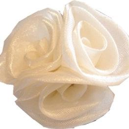 Fleur Flower Shoe Clips- White