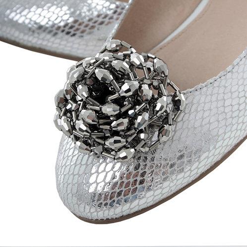 Chromium Corsage Shoe Clips