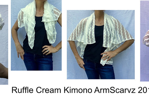 Armscarvz Knit Collection Cream