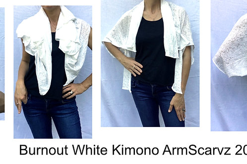 Armscarvz Knit Collection Burnout White