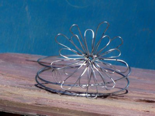 Delicate Steel Flower Armlet X Small