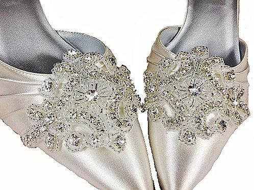 Crystal Applique Shoe Clips