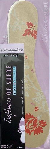 2 pairs of SummerSoles Ladies Softness of Suede Insoles