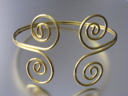 Open Spiral Scroll Armlet