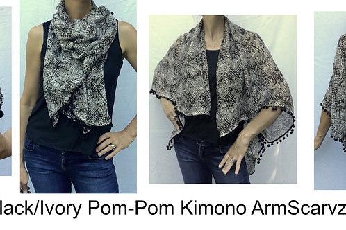 Armscarvz Knit Collection Pom Pom Print