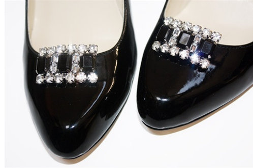 Black Katie Shoe Clips