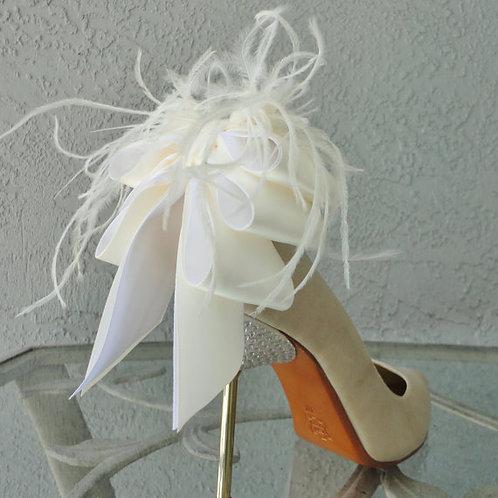 Back Bow & Ribbon Shoe Clips - various colours