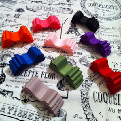 Jessica Grosgrain Bow Shoe Clips