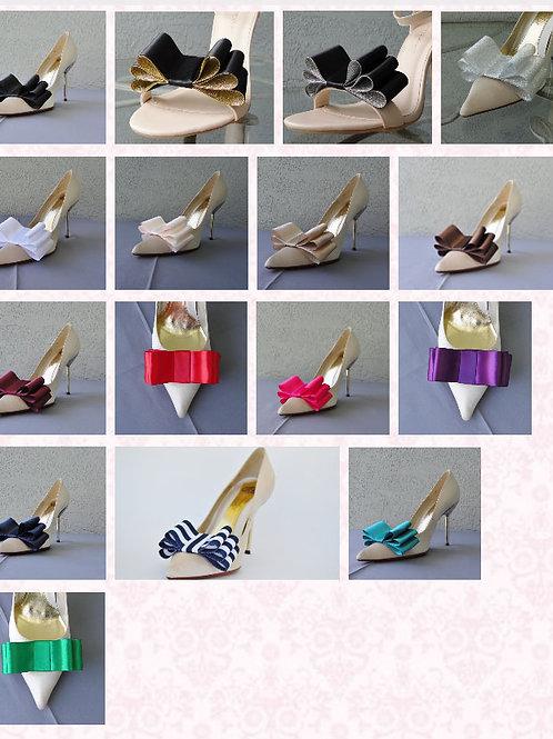 Triple Satin Shoe Clips