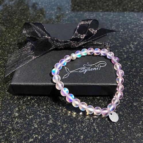 Syreni Mermaid Glass Bracelet - Pink Skies